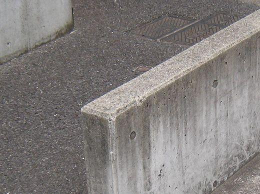 面木を使ったコンクリート構造物